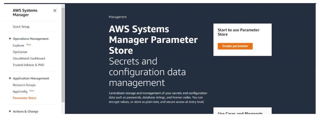 Systems Manager Parameter Store